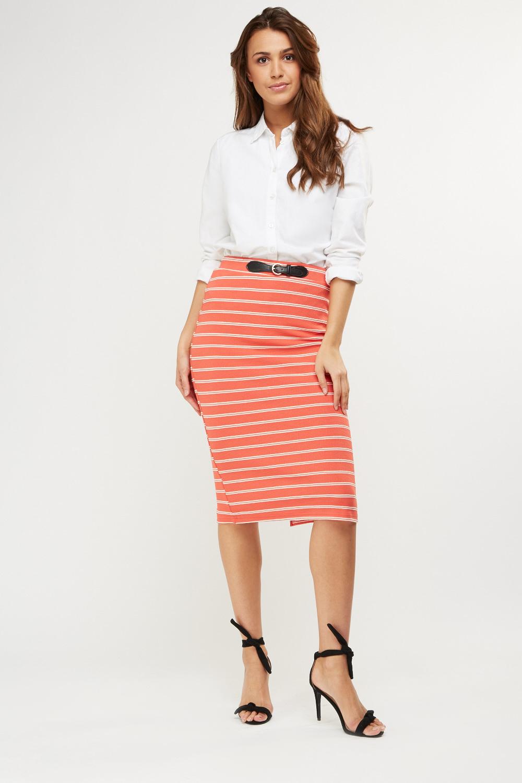 9bb0aa4edd Striped Ribbed Midi Skirt - Just £5