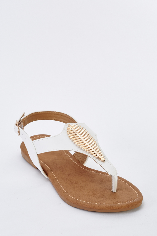 fcffacd5233 Detailed T-Strap Flat Sandals - Just £5