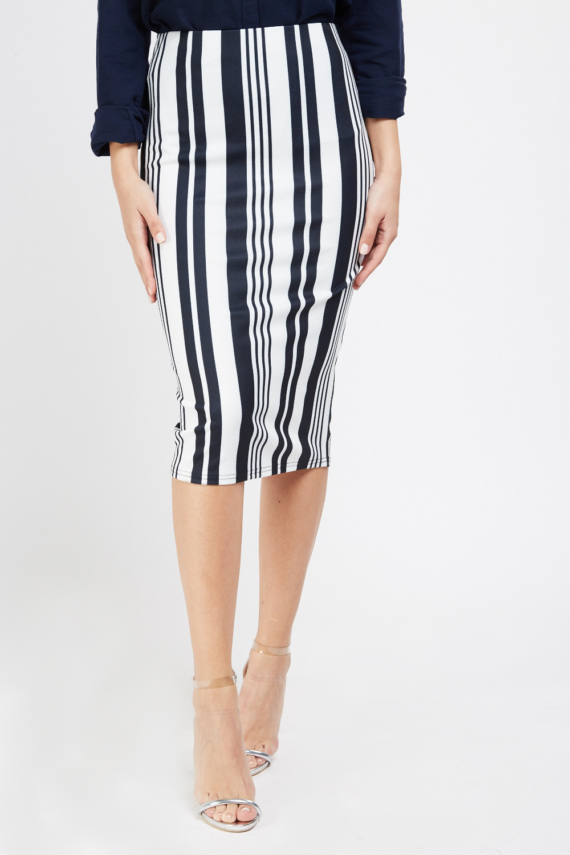 54a759f0b300f7 Vertical Striped Midi Skirt - Just £5
