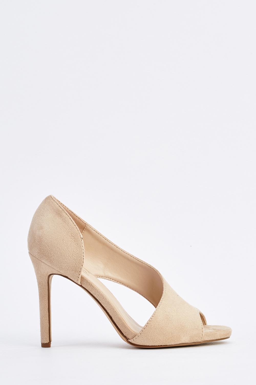 Cut Out Side Peep Toe Heels - Just $6