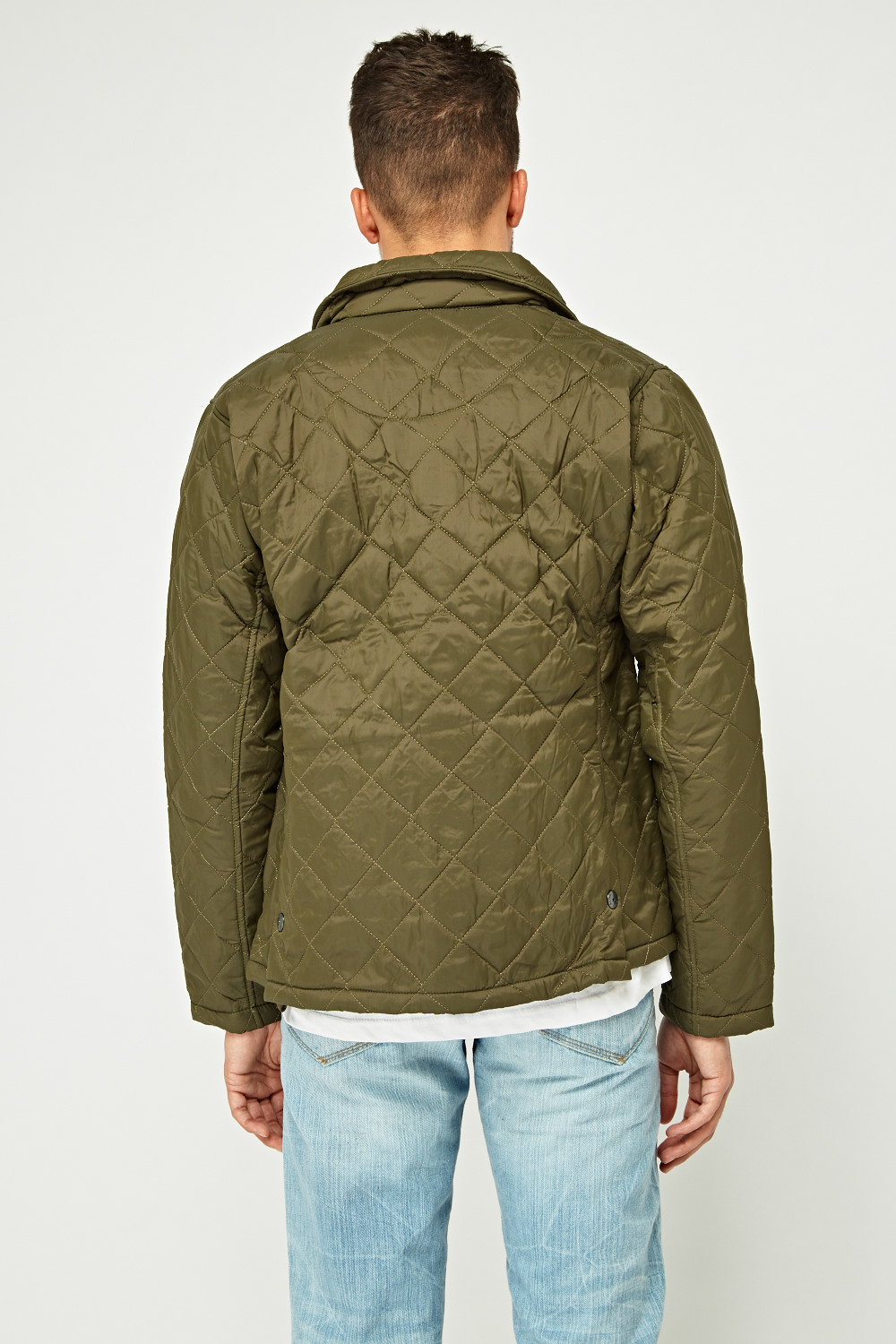 Mens Diamond Quilted Jacket Just 5