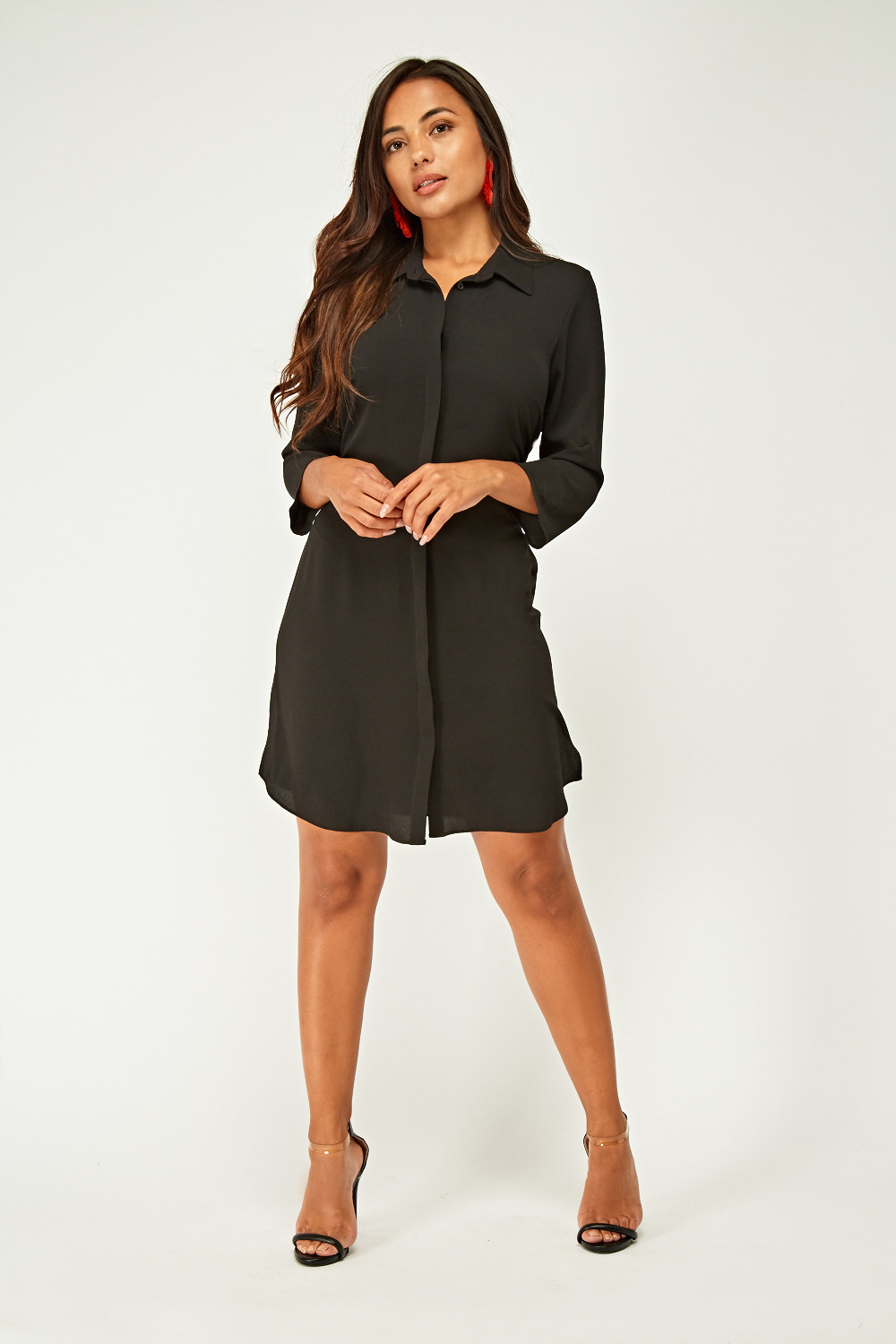 3589be569f Tie Up Sheer Shirt Dress - Just £5