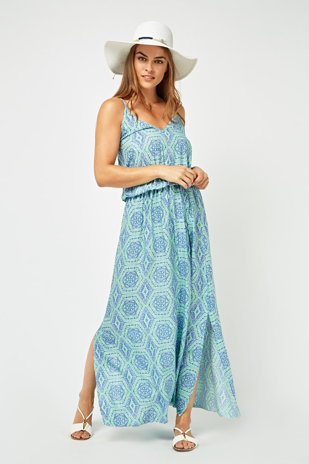 814bffb609d Moroccan Tile Print Maxi Dress - Just £5