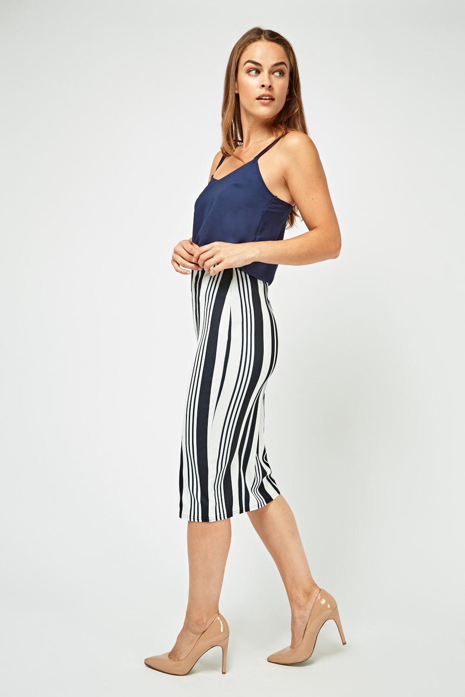 a9e40616bb172b Vertical Stripe Midi Skirt - Just £5