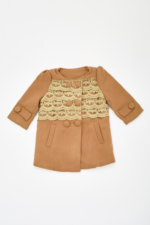dbd32e2e21818b Frilled Front Peplum Girls Coat - Just £5
