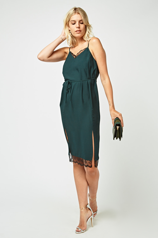 d29a02d5ff74 Lace Trim Cami Slip-On Dress - Just £5