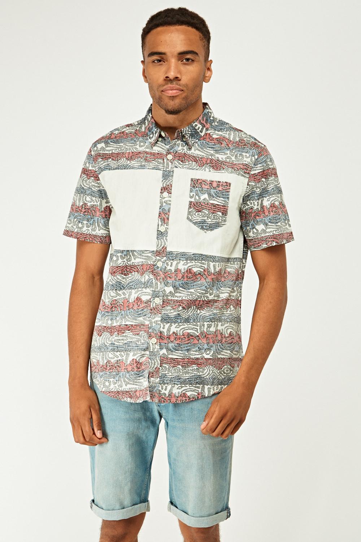 c0a3266503c Reverse Print Short Sleeve Shirt - Just £5