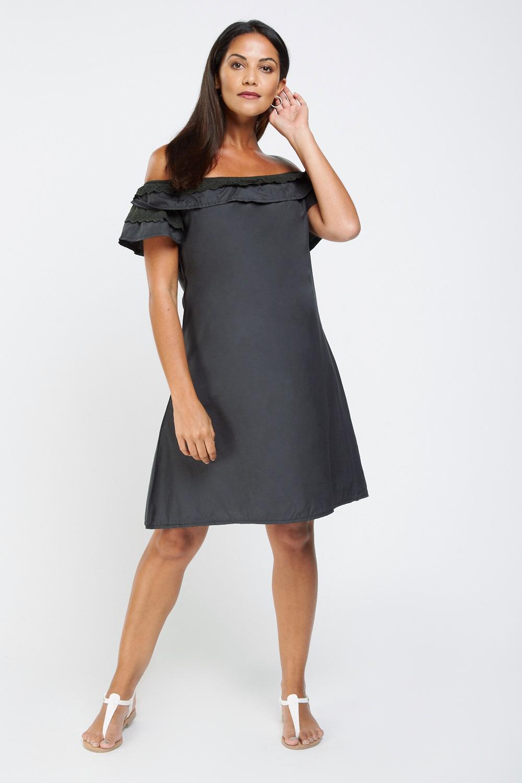 46f75a7faa8 Ruffle Broderie Off Shoulder Dress - Just £5