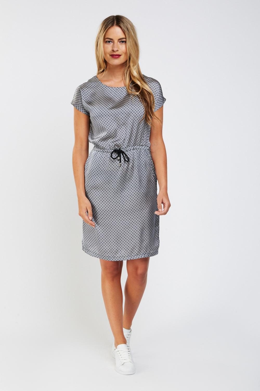 43cc270ce1b Tile Printed Tunic Dress - Dark Blue Cream - Just £5