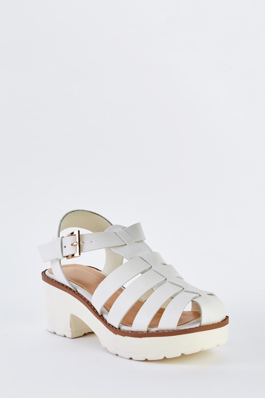 53e1542ce7e Chunky Heel Gladiator Sandals - Just £5