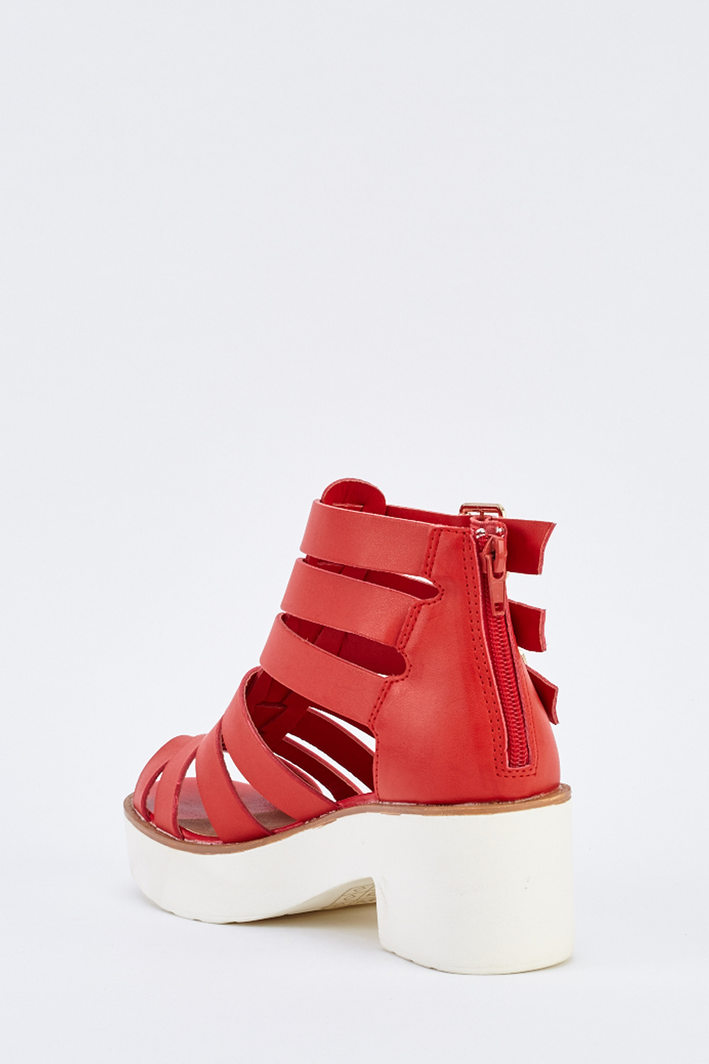 fa405a53a5f Cut Out Chunky Gladiator Sandals - Just £5