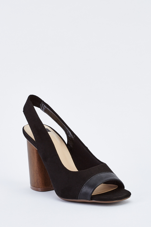 486774d0a49a Suedette Slingback Block Heels - Just £5
