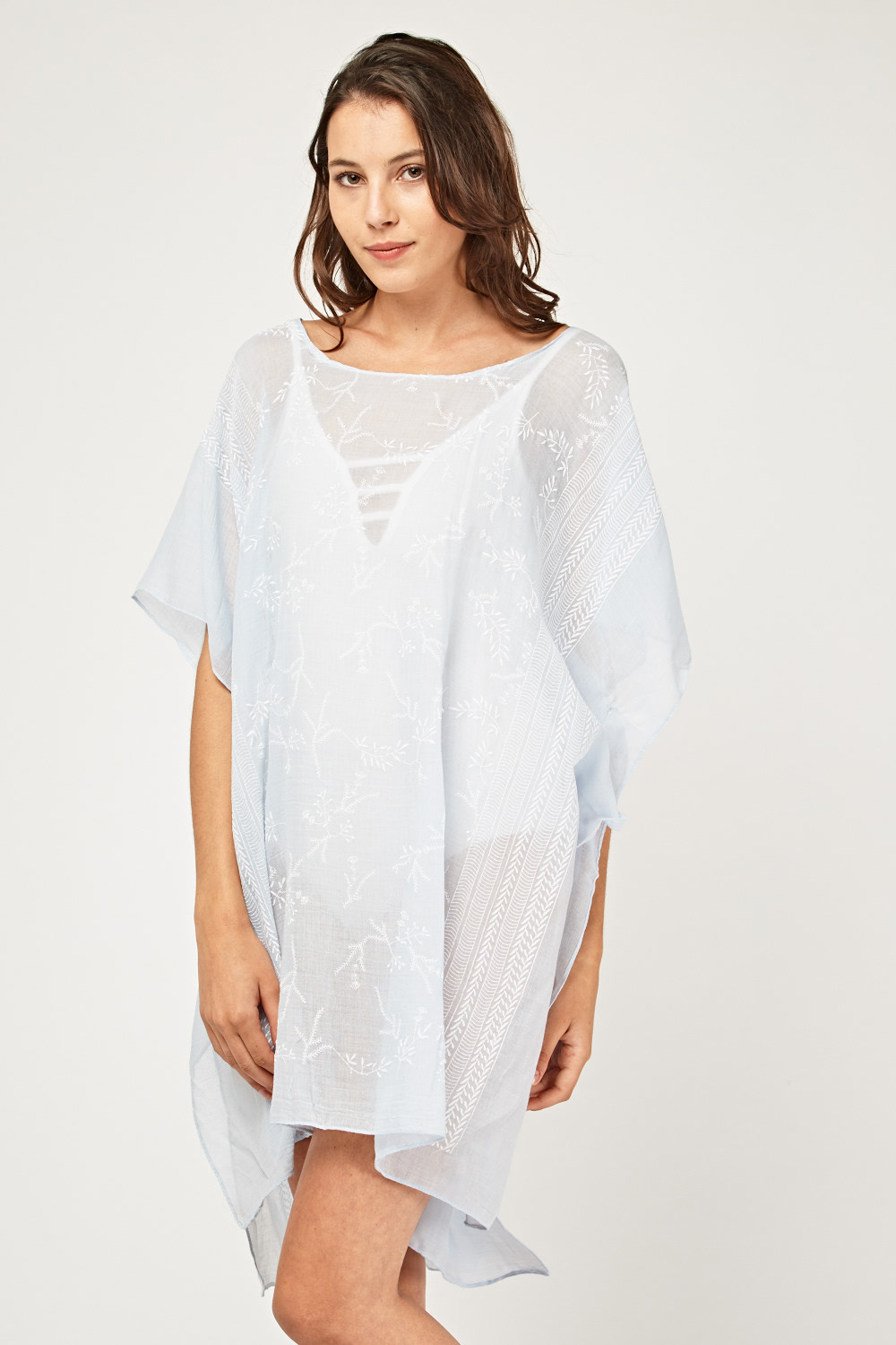 0f1f7ed49 Embroidered Sheer Beach Cover Up - Just £5