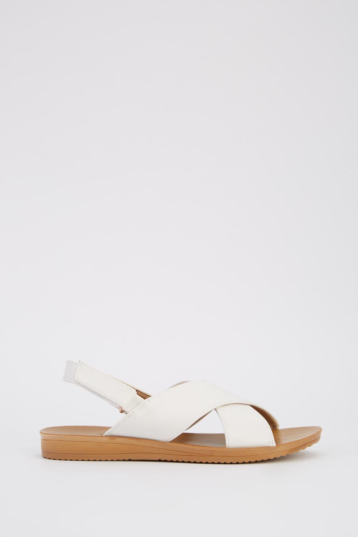 a78f80f5a Cross Over Flat Sandals - Just £5