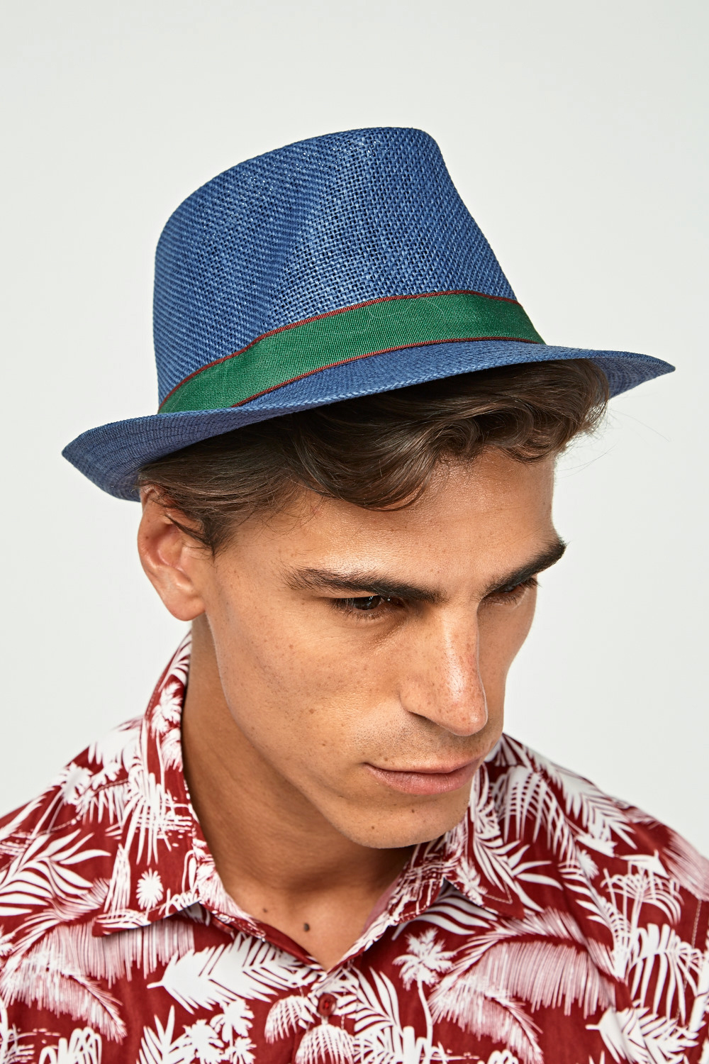 707e756fd05 Contrast Trim Mens Fedora Hat - 8 Colours - Just £5