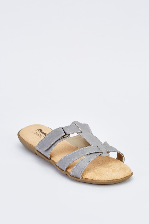 b7b11367b Strappy Flat Sandals - Grey - Just £5
