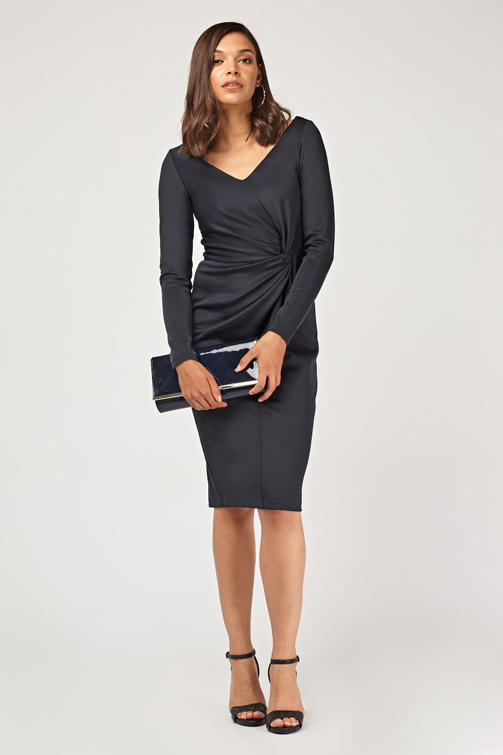 Ruched Front Midi Pencil Dress - Just £5 7bf7b4245
