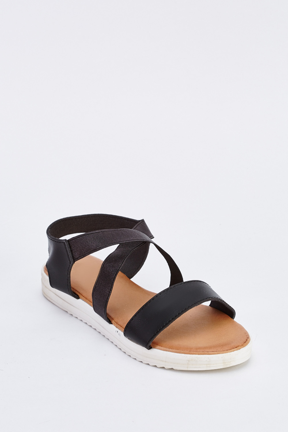 32c7dfbd2a34 Crossover Strap Flat Sandals - Just £5