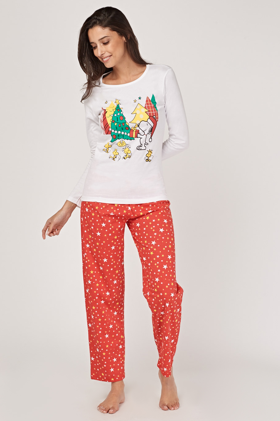 snoopy christmas print pyjama set redmulti just 5 - Snoopy Christmas Pajamas