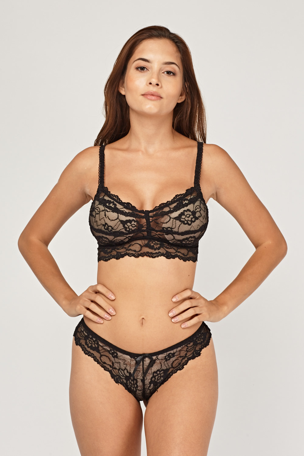 f4fbf02451 Laced Bralette And Brief Set - Just £5