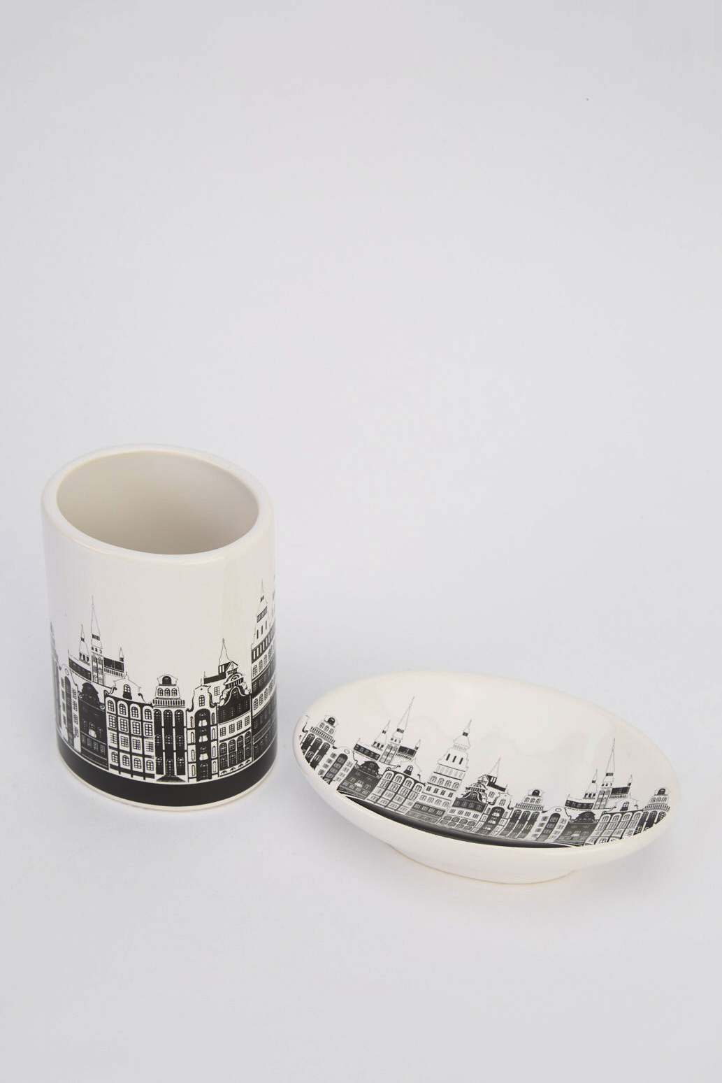 Building Print Soap Dish And Toothbrush Holder Set Just 5
