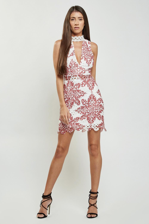 bdba30fe16dc 3D Lace Keyhole Front Dress - Just £5