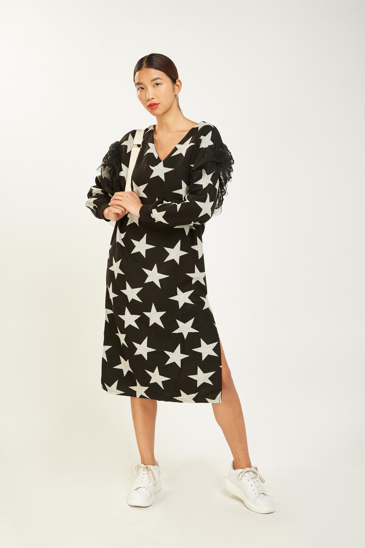 d4d8f142eda Mesh Star Contrast Jumper Dress - Just £5