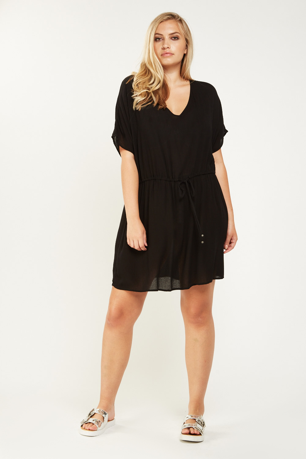 1653ab0f29 Black Sheer Cover Up Dress - Just £5