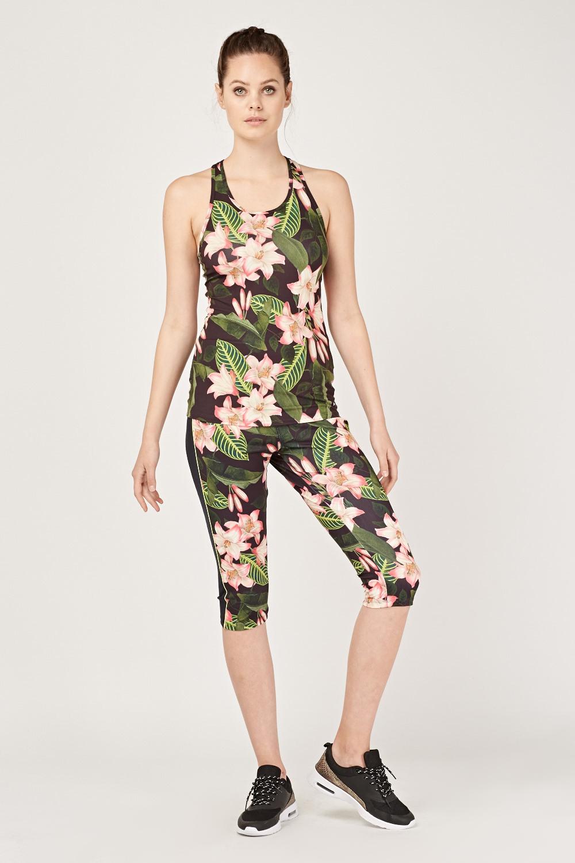 90c76c3da78d Floral Print Capri Leggings - Just £5