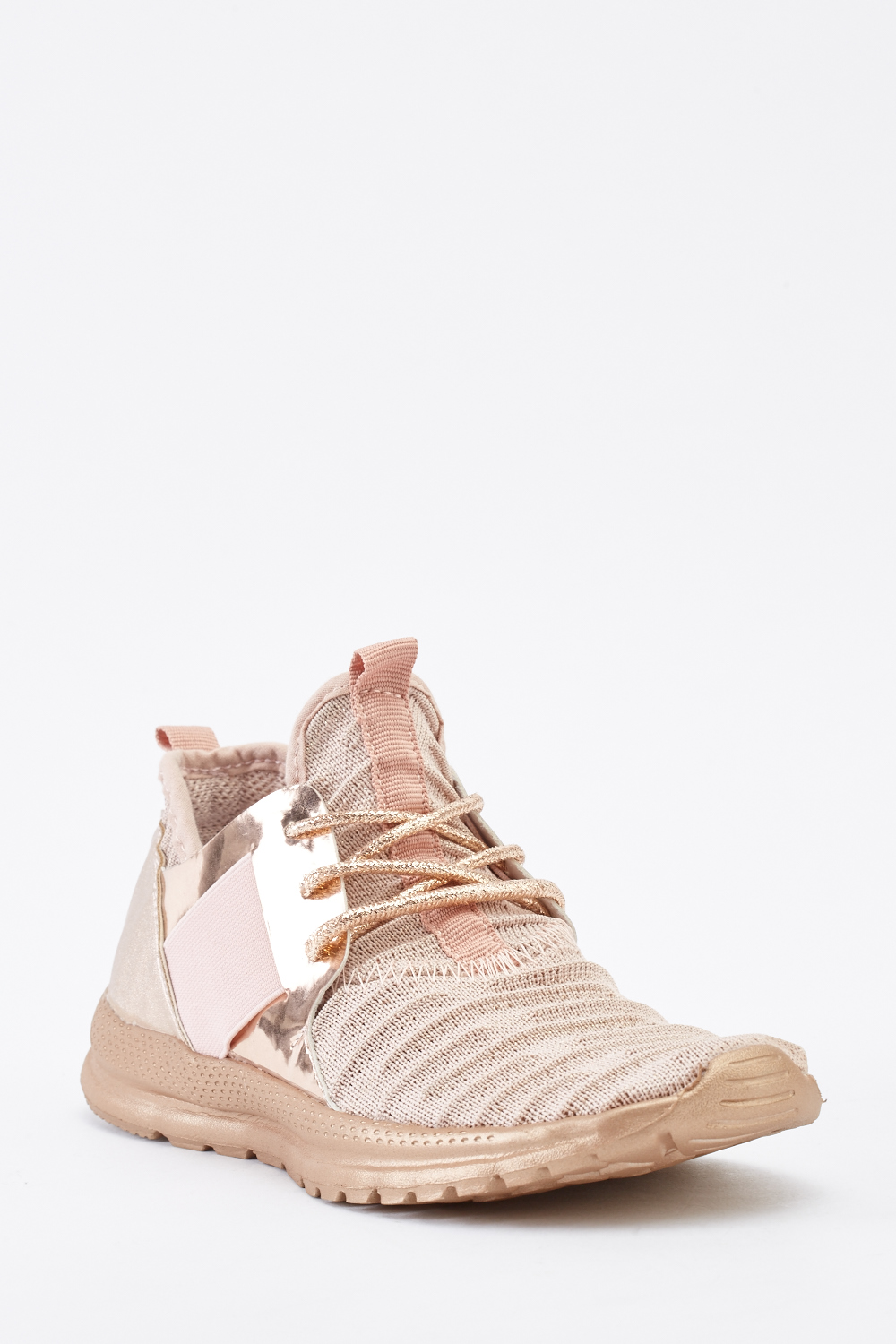 faeeebe1588ff Contrast Metallic Lace Up Trainers - Just £5