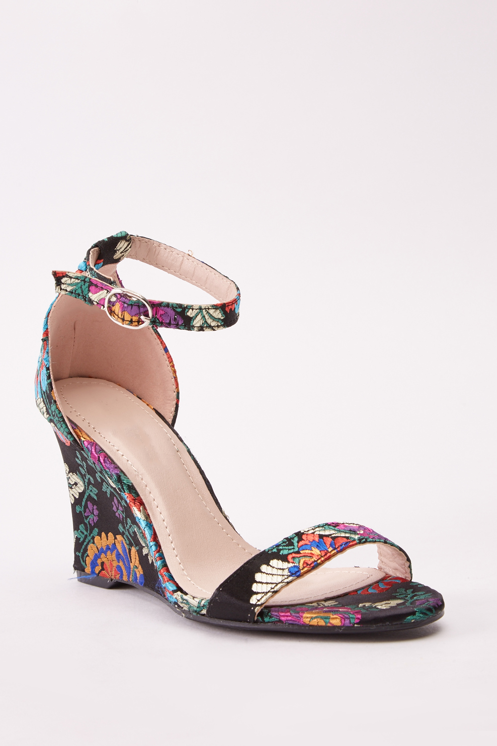 2a7856487ce9 Embroidered Wedge Floral Sandals - Just £5