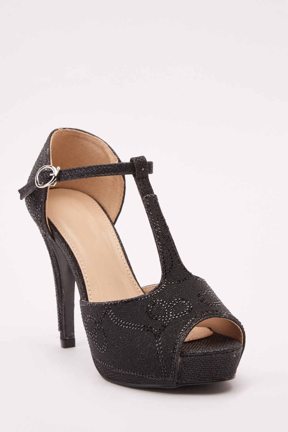 0a4f3eb3488 Encrusted Open Toe Heeled Sandals - Just £5