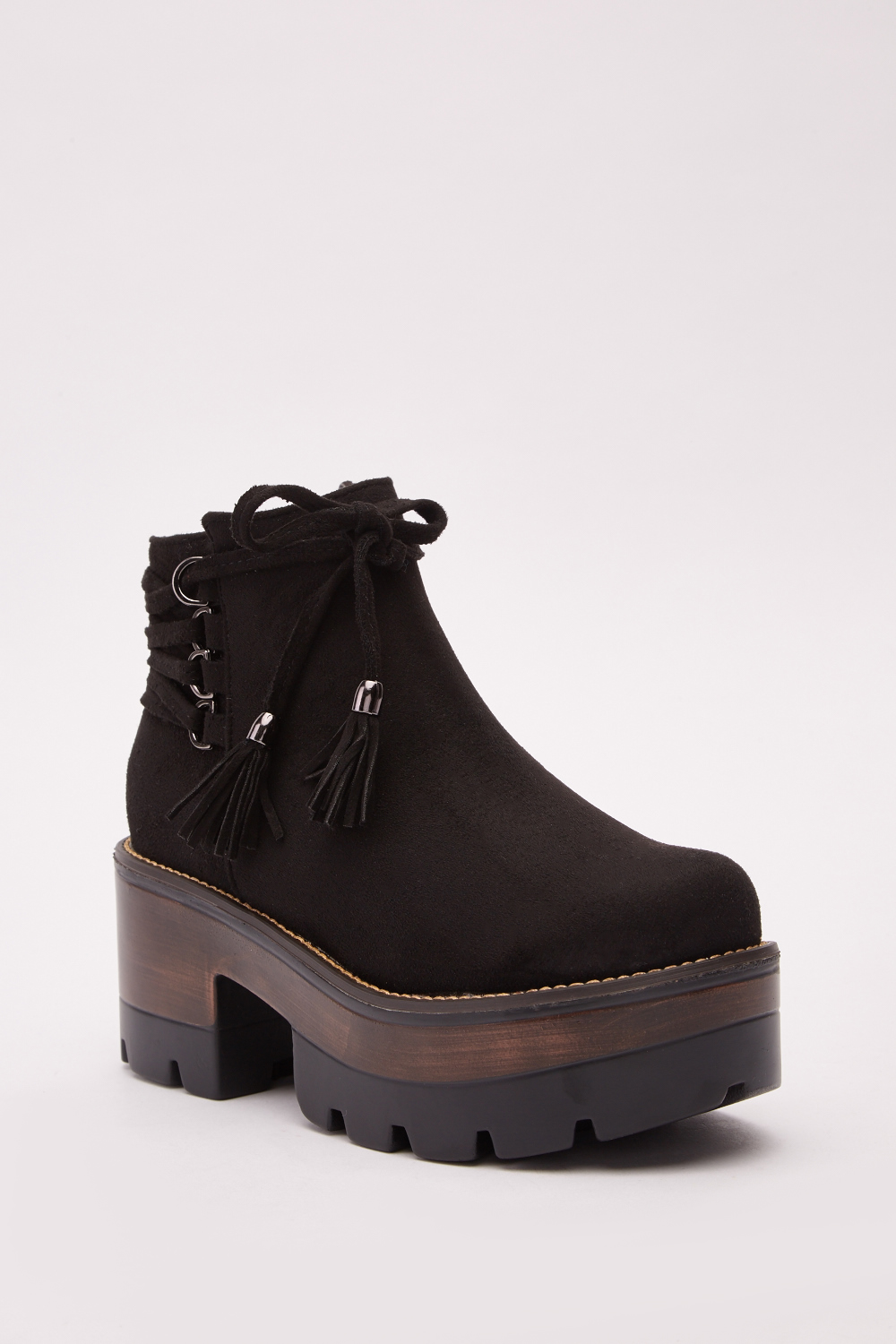 34ccd4465bb Suedette Chunky Block Heel Ankle Boots - Just £5