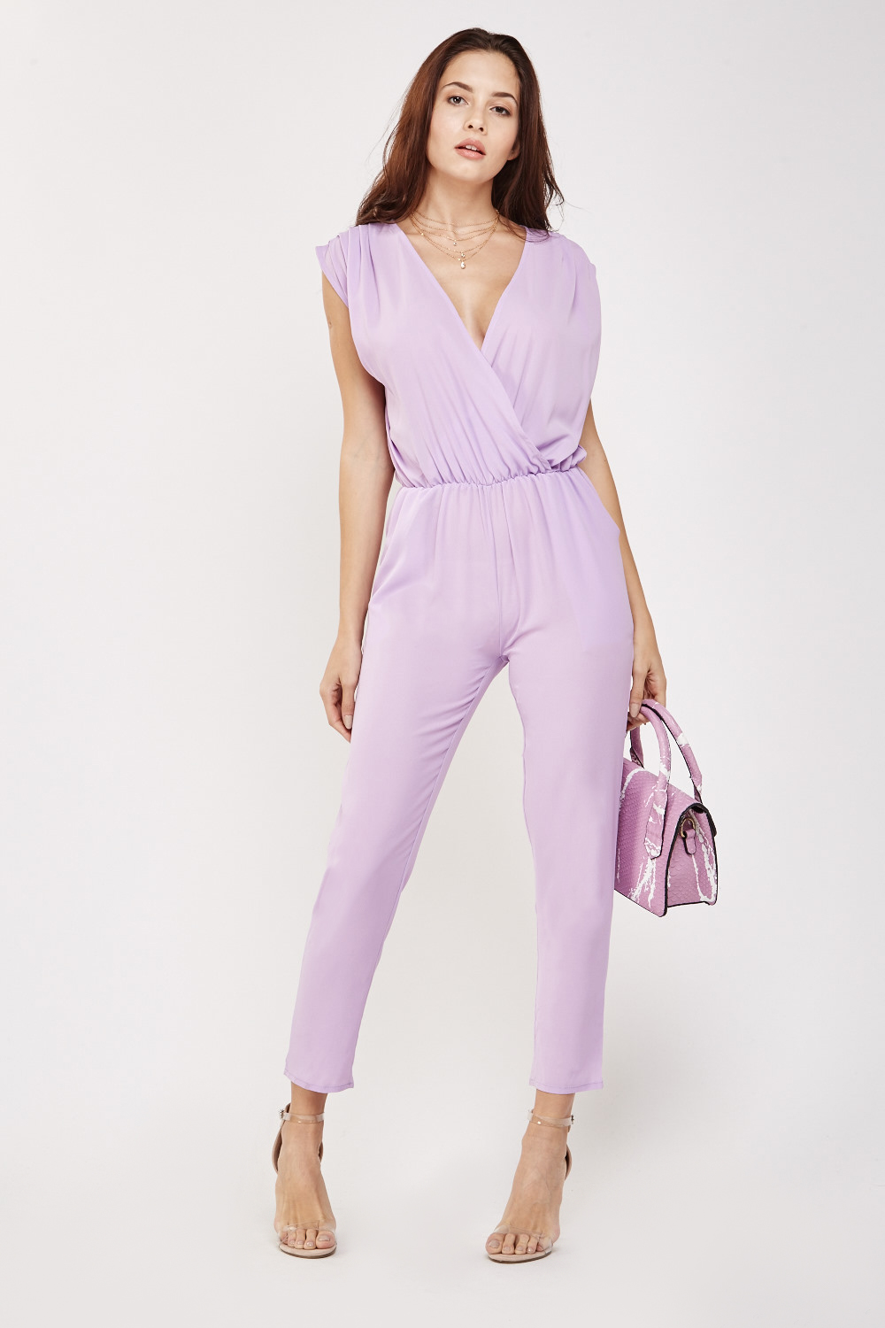 204086426da7f Sleeveless Wrap Jumpsuit - 4 Colours - Just £5