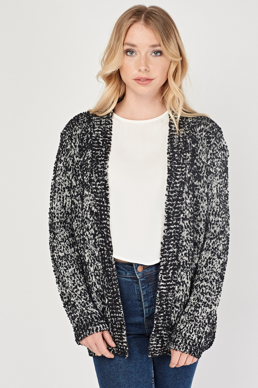 d6ce4ef4f0e6 Textured Speckled Knit Cardigan - Just £5