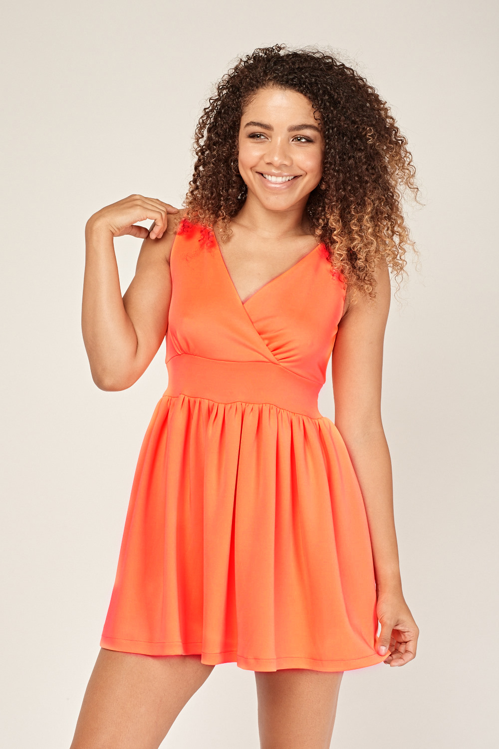5978dc73a4 Frilly Wrap Skater Dress. £5.00. ColourNeon Coral. Mint  Neon Coral