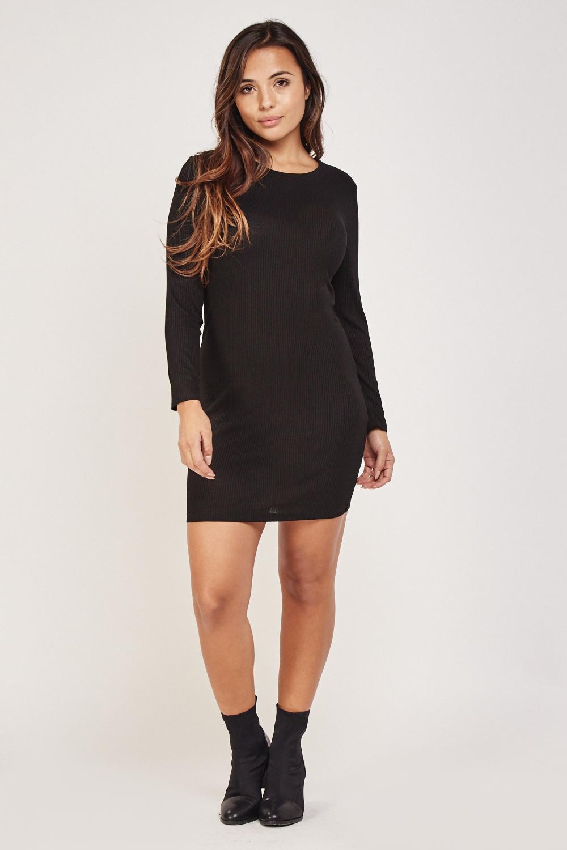 b935cdb242be Long Sleeve Rib Bodycon Dress - Just £5