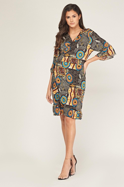 Tribal Print Tunic Dress - Just $3