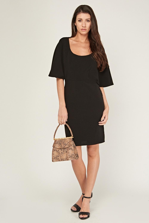 cd67367098dd Kimono Sleeve Bodycon Dress - Black - Just £5