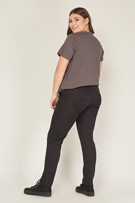 Low Rise Printed Elasticated Leggings Charcoal Just 163 5