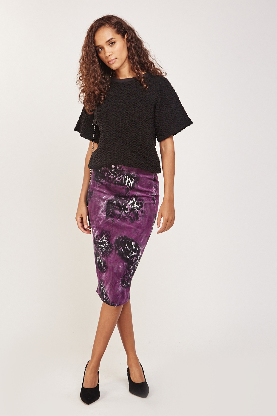 d23f59a43943 Floral Corduroy Midi Skirt - Just £5