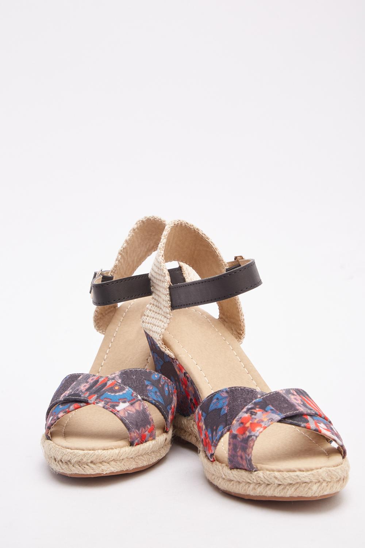 d25819bd53da Floral Print Wedge Sandals - Just £5