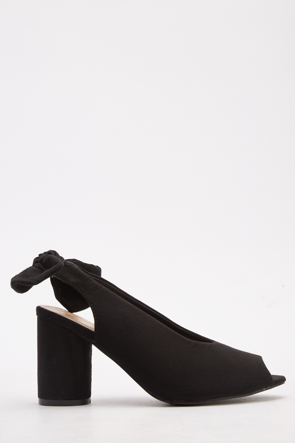 c4de76682b0 Block Heeled Slingback Open Toe Shoes - Black - Just £5