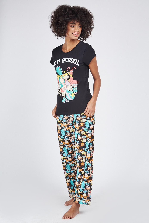 c44047b289 Rugrats Point Pyjama Set - Red Multi or Black Multi - Just £5