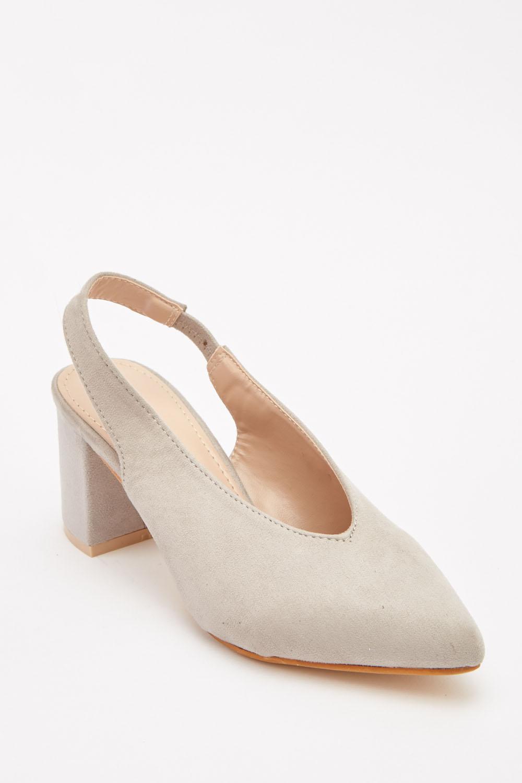 a03f3fbc61b Suedette Slingback Block Heel Sandals - Just £5