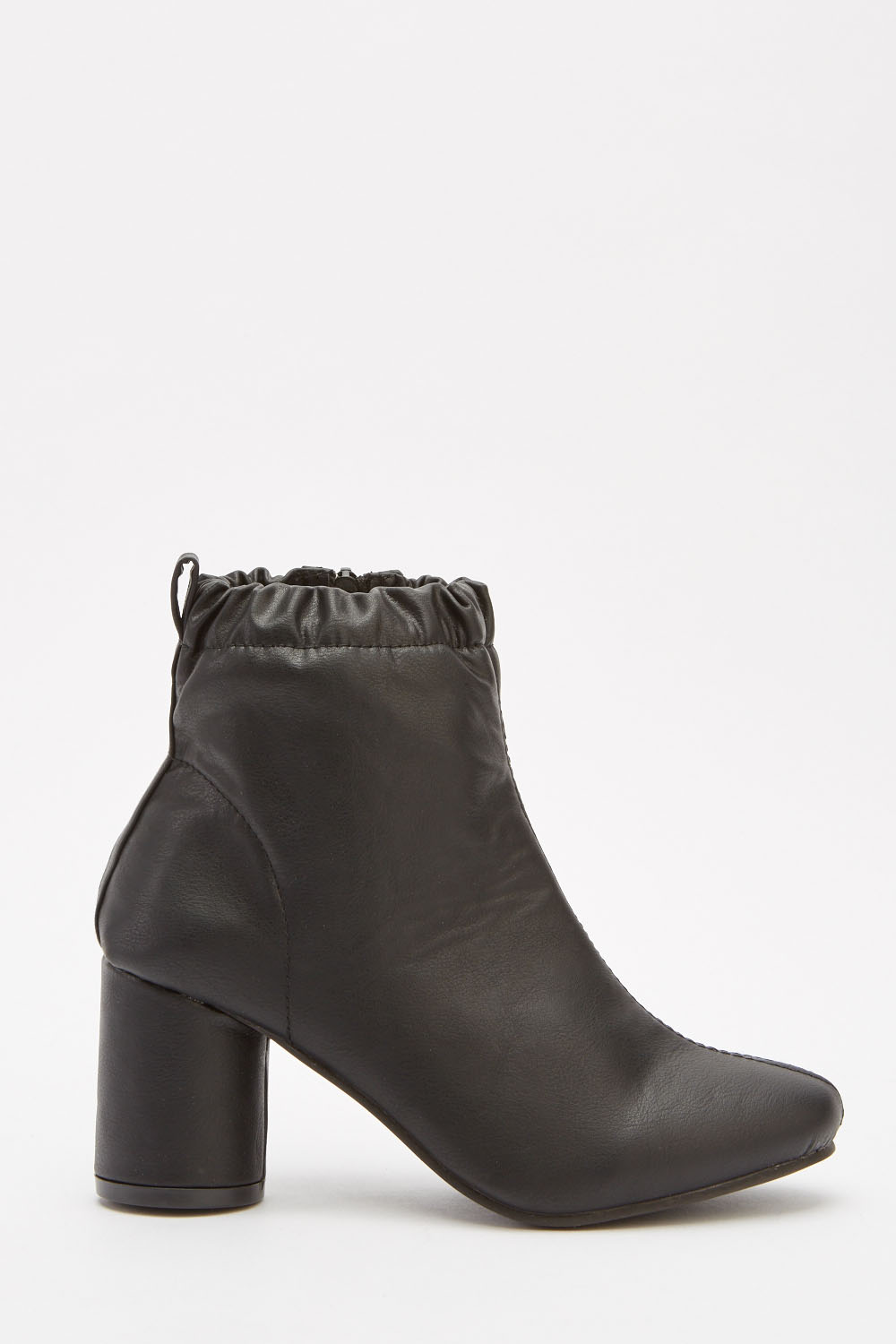 56847c895c13 Faux Leather Ankle Boots - Black - Just £5
