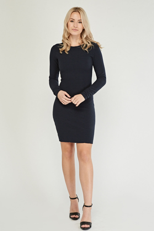 b67555b75ba4 Long Sleeve Ribbed Bodycon Dress - Just £5