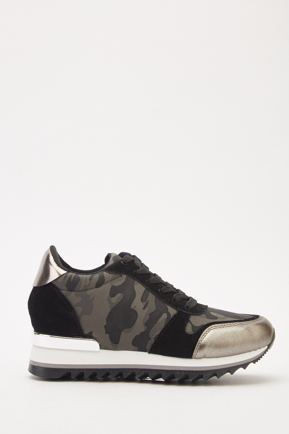 8e62c459d2104 Metallic Contrast Lace Up Trainers - Just £5