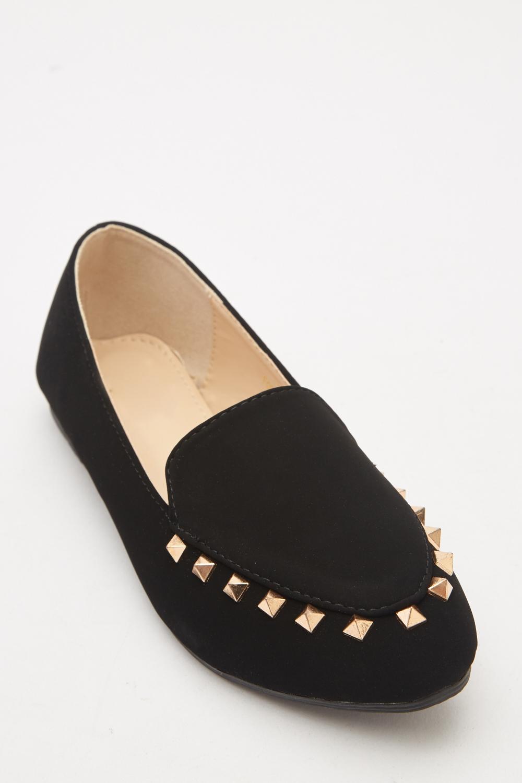 8e45d6b25d4 Studded Detail Ballet Pumps - Black - Just £5