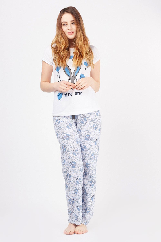 7b7d1b2b48 Rabbit Novelty Print Pyjama Set - Just £5